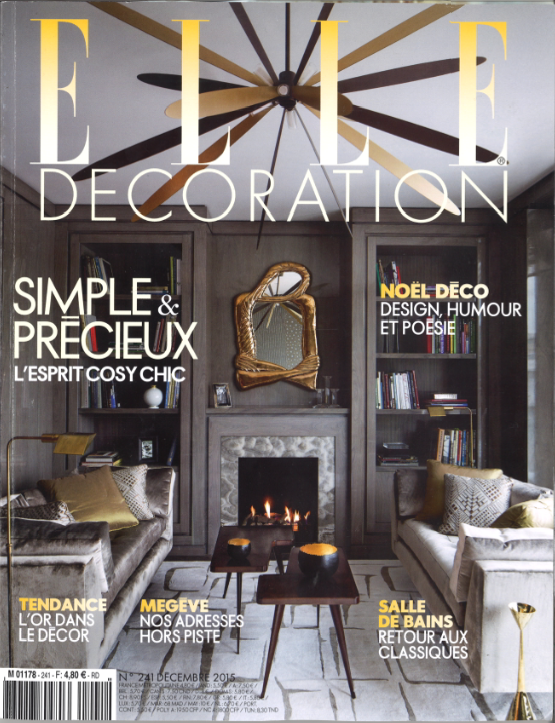 Parution - Elle Magazine - Woody - Decembre 2015 - Couverture
