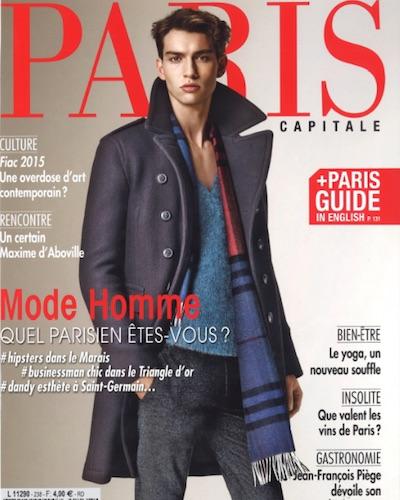 Parution - L'Eclaireur - Paris Capital - Octobre 2015 - Couverture