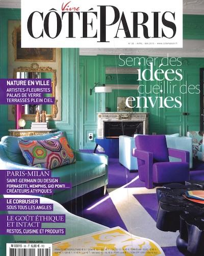 Parution - L'Eclaireur - Vivre Coté Paris - Avril: Mai 2015 - Couverture