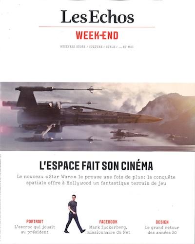 Parution - Galeries Bartoux - Les Echos Weekend -Ludovic Bichoff - 11 Décembre 2015 Couverture