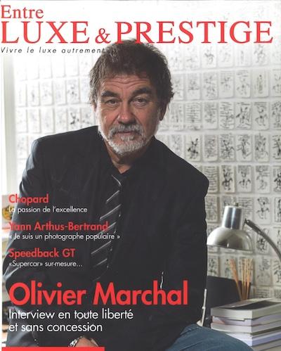 Parution - YellowKorner Yann Arthus Bertrand - Entre Luxe et Prestige Magazine - Decembre Janvien Fevrier 2015 - Couverture